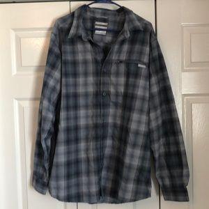 Men's grey Columbia flannel